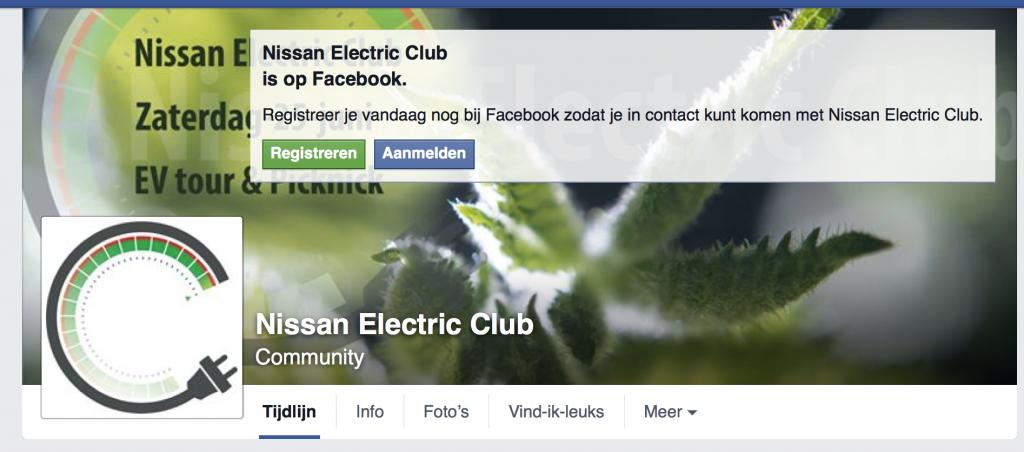 Nissan Electric Club op Facebook